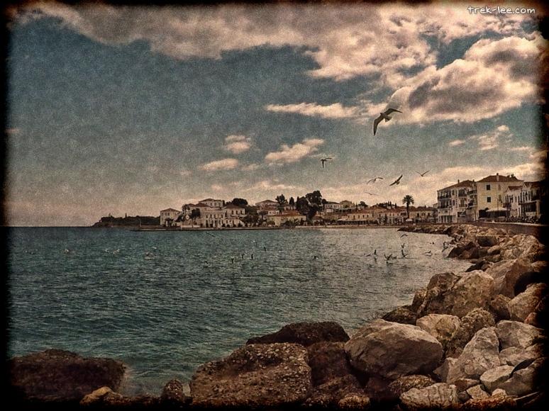 Spetses island port town vintage Σπετσες πόλη